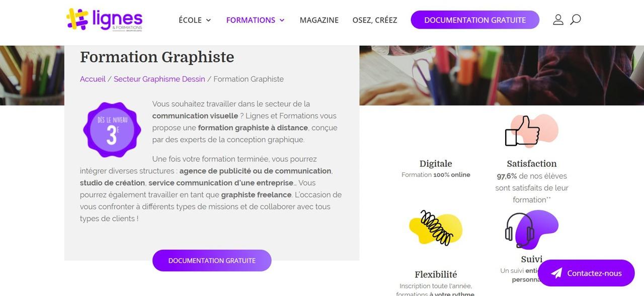 Meilleures formations en ligne Graphiste : Comparatif & Avis