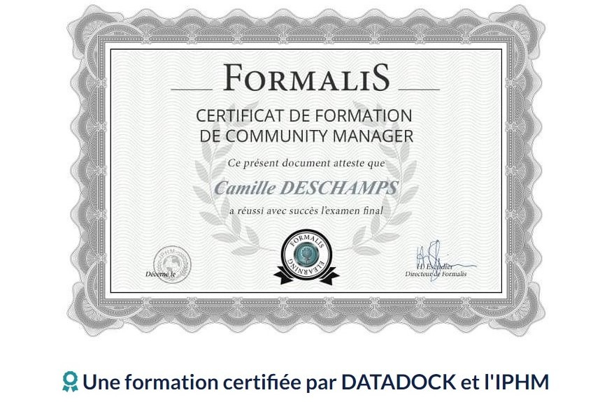formation de Community manager de Formalys
