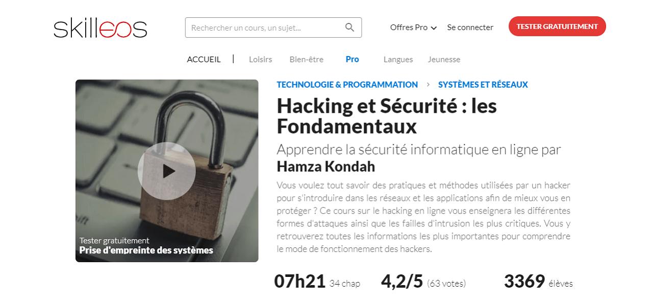 Formation Hacking et Sécurité chez Skilleos
