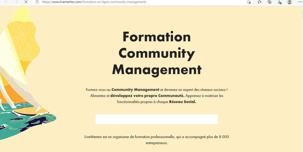 formation de community management